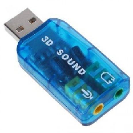 Imagem de adaptador USB para aúdio, fone e microfone - Marca Sukram