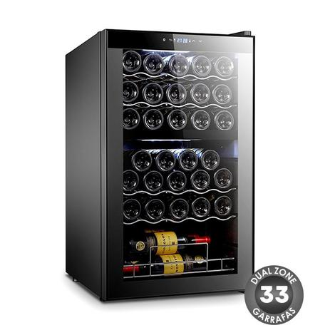 Imagem de Adega De Vinhos Compressor Dual Zone 33 Garrafas Easycooler