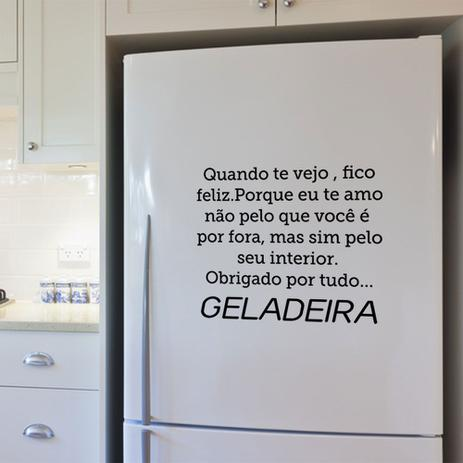 Imagem de Adesivo de Geladeira Quando te Vejo, Fico Feliz...