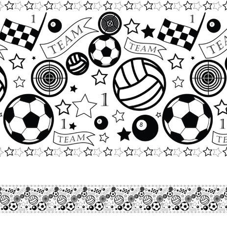 Adesivo de Parede Faixa Decorativa Infantil Bolas 10m x 10cm - Quartinhos 6cd8b19bed0b9