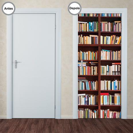 Imagem de Adesivo Decorativo de Porta - Estante de Livros - 177pt