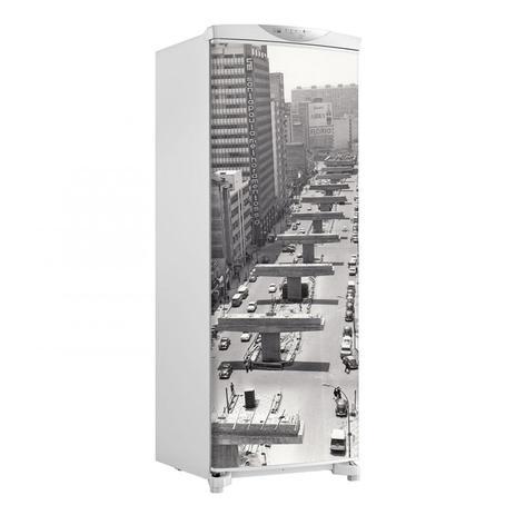 Imagem de Adesivo Geladeira Envelopamento Porta Fotos Antigas 3 - 180x65cm