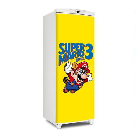 Imagem de Adesivo Geladeira Envelopamento Porta Super Mario 3 - 180x65cm
