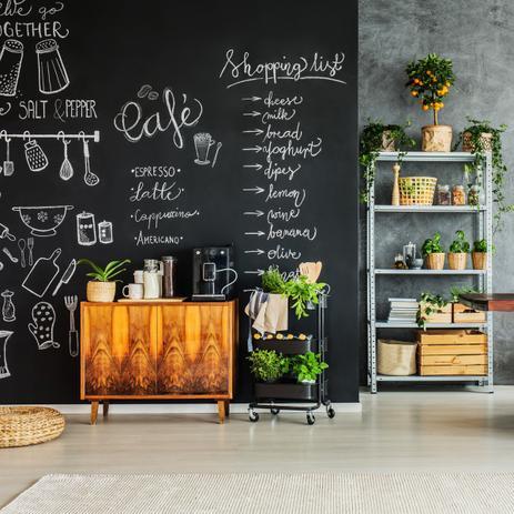 Imagem de Adesivo Lousa Para Geladeira Móveis Quadro Negro Blackboard 1,00x0,50m