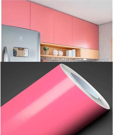 Imagem de Adesivo para envelopamento Geladeiras Móveis 1MX50CM ROSA BB