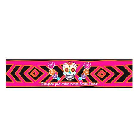 Adesivo para Garrafa Caveira Mexicana 08 unidades Duster - Festabox ... a70ec584d02
