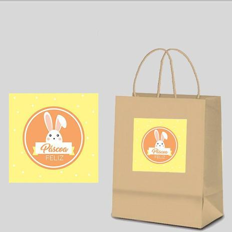 Imagem de Adesivo Personalizado para Sacola Kraft Páscoa
