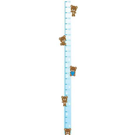 fd71dd471 Adesivo Régua do Crescimento - Ursinho 414 Azul - R+ adesivos ...