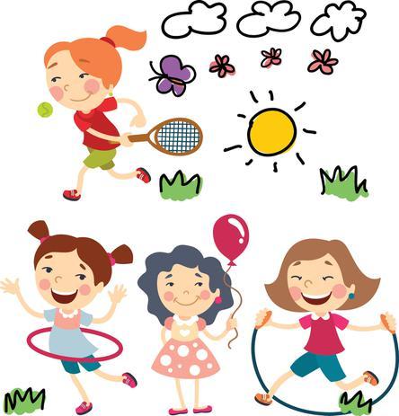 Imagem de Adesivos de Parede Infantil Meninas Brincando