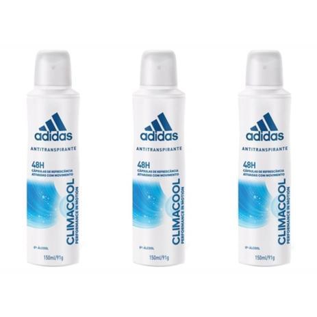 dec51edae Adidas Climacool Desodorante Aerosol Feminino 150ml (Kit C/03 ...