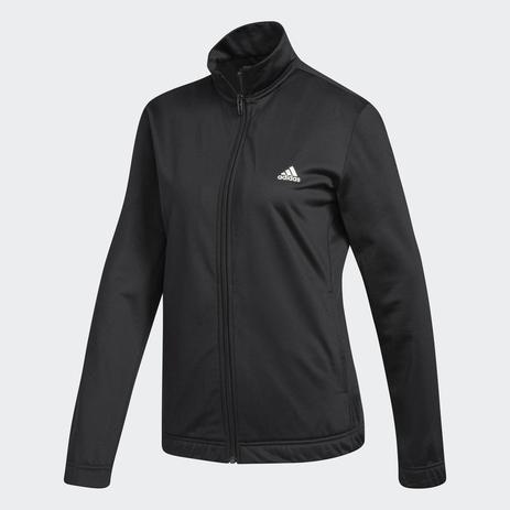 Agasalho Adidas Essentials Feminino - Preto Branco - Agasalho para ... 33c10b1b88f3d