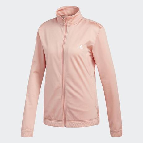 Agasalho Adidas Essentials Feminino - Rosa e Preto Branco - Agasalho ... 6df46fcc5e152