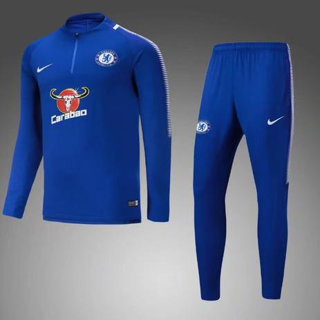 Agasalho de Treino do Chelsea 17 18 - Torcedor Nike Masculina ... a87d65989c0e3