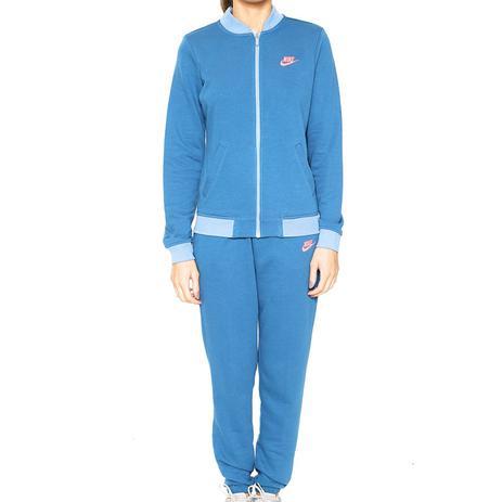 886821797af2c Agasalho Sportswear Track Suit Feminino Azul e Pink 831119 Nike ...