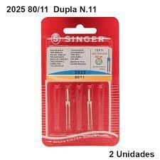 Imagem de Agulha De Maquina Dupla Singer Para Costura 2025 Nº11 - 01 unidade