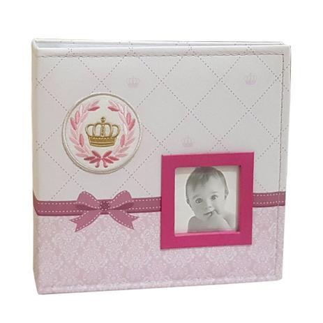Imagem de Album Bebê Tecido 200 Fotos 10x15 Ical Princesa