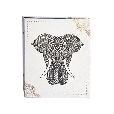 Imagem de Álbum Criativa Folhas Preta 160 Fotos Elefante