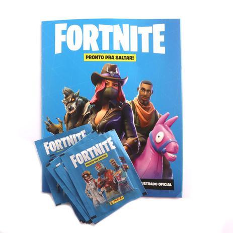 Imagem de Álbum de Figurinhas Fortnite com 12 Pacotes