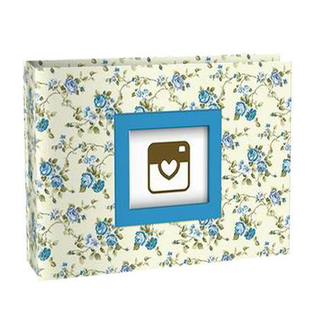 Imagem de Álbum De Fotos Floral Azul P/ 100 Fotos 10x15 Yes