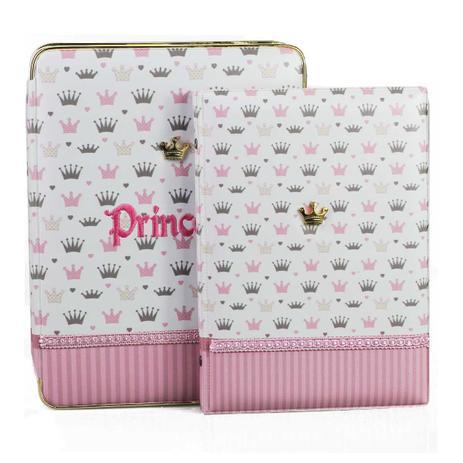 Imagem de Álbum de Fotos Princesa coroa c/ estojo 15x21 40 fotos