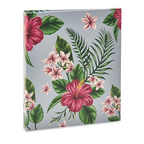 Imagem de Album Floral Ical 200 Fotos 10x15 Fundo Cinza
