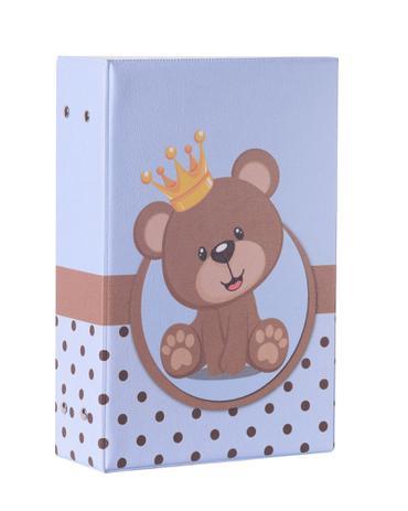 Imagem de Álbum Fotográfico Urso Príncipe Para 500 Fotos 10x15 Coroa Infantil Bebê Príncipe Ursinho