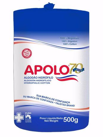 084bdf15a4a474 Algodão Apolo Hidrofilo Multiuso 500g - Companhia manufatora tecidos