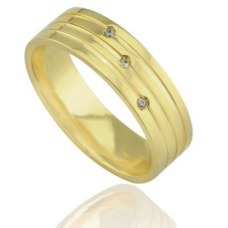 f0de835e2a6 Aliança casamento trabalhada em ouro 18K Florença com Diamantes - Neo  joalheiros