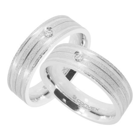 Imagem de Aliança de aço Convex Diamantada Unidade 310683