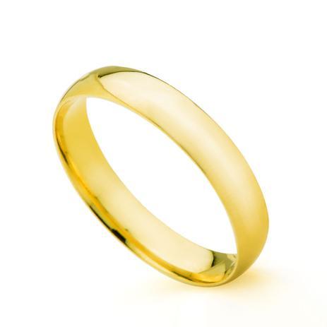Aliança de Casamento em Ouro 18K 3,5mm Semi Anatômica Feminina ta35sa -  Joiasgold ed1e8a4a11