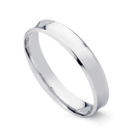 Aliança de Casamento em Ouro Branco 18k Concava 4,0mm Masculina ebc40s -  Joiasgold a90730e935