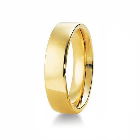 Imagem de Aliança de Casamento Masculina em Ouro 18k 750 6mm Anatômica WM Jóias