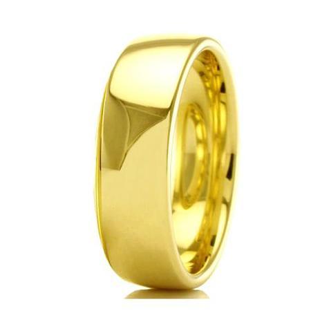 dc5be339ced53 Aliança de casamento masculina em Ouro 18k 750 WM Joias 4MM M2301 ...