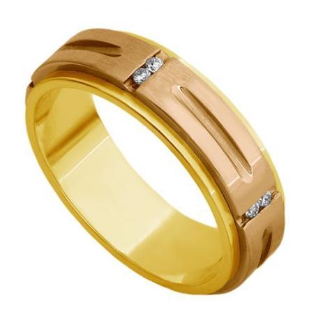 Aliança de Casamento Ouro 18k Amarelo e Rosê com Diamantes Feminina ar -  Joiasgold d2ccb261e5