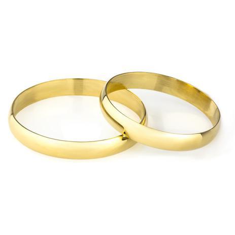 4201c3365874b Aliança de Noivado em Ouro 18k 2,9mm ta29 - Par - Joiasgold - Joia e ...