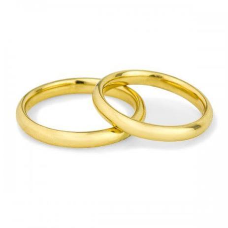 Aliança de Noivado em Ouro 18k Air Fit Anatômica ta29a - Par - Joiasgold 51769709a3