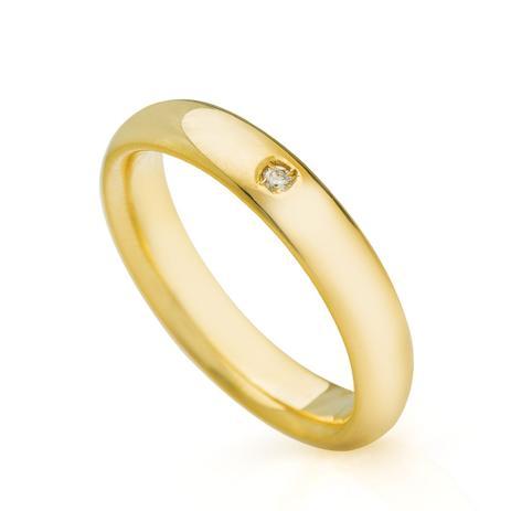 Aliança em Ouro 18k Casamento 3,9mm Diamante Feminina ta39-1 - Joiasgold 402ced6d4c