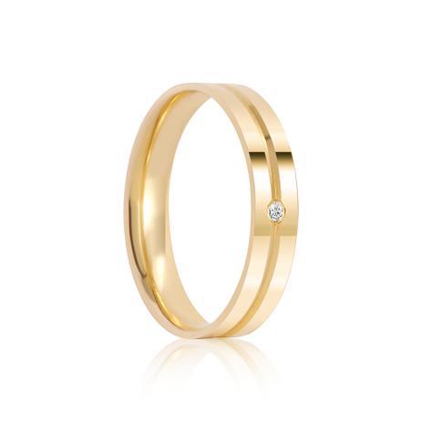 76e0e30c5c6d9 Aliança em Ouro 18k T93A com Diamante 1