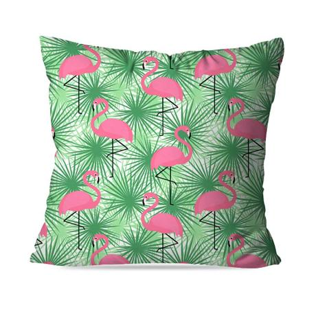 50eb34236 Almofada Avulsa Decorativa Flamingo green - Love decor - Almofada ...