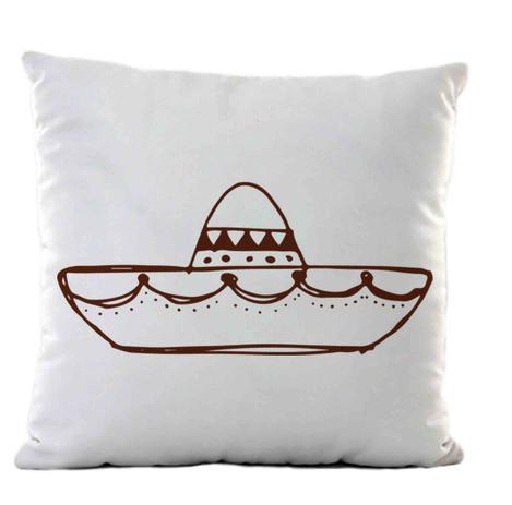 45f59974141e5 Almofada branca sombreiro mexicano - Criatics - Almofada Comum ...