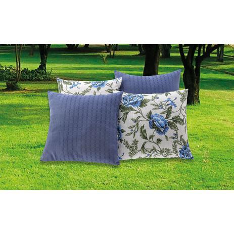 cab0bb64dda1f3 Almofada Decorativa 8 Peças Floral Azul - Essência enxovais