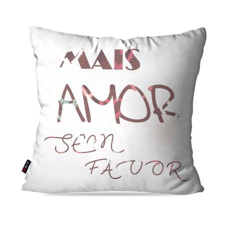 d2c9eaac3cb0f2 Almofada Decorativa Avulsa Branco Frases Mais Amor - Pump up