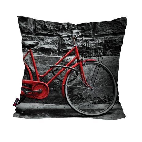 Edredon Bicicleta.Almofada Decorativa Avulsa Preto Bicicleta Pump Up