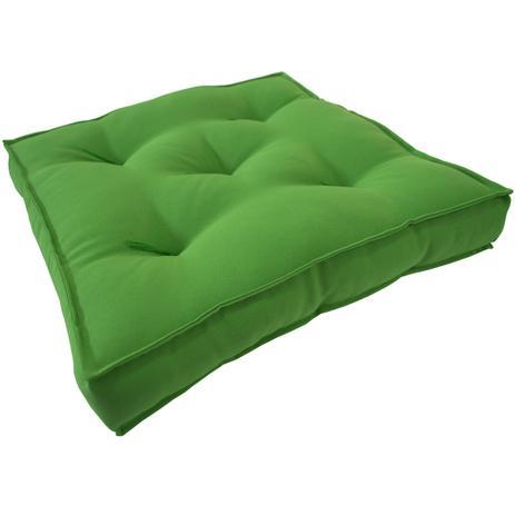 almofada futton zabuton 42x42cm verde ecaza almofada e capa