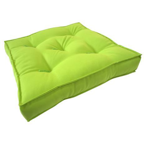 almofada futton zabuton 42x42cm verde limão ecaza almofadas e