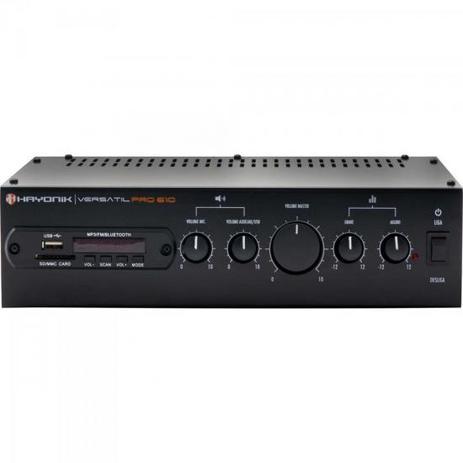 Imagem de Amplificador 100W com Bluetooth VERSATIL PRO-610 Preto HAYON