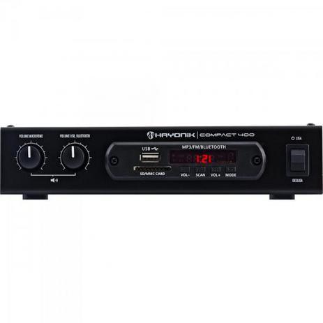 Imagem de Amplificador 40W com Bluetooth COMPACT 400 Preto HAYONIK