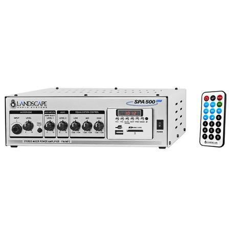Imagem de Amplificador Landscape SPA500 Som Ambiente 50+50W Estereo 100W mono c/ USB