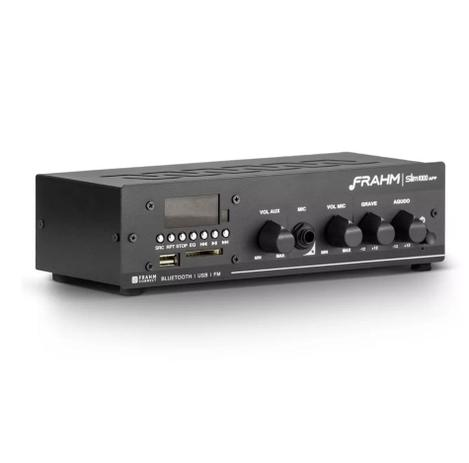 Imagem de Amplificador Receiver de Som Frahm Slim 1000 APP G2