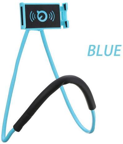 Imagem de Andoer O telefone de suspensão preguiçoso do pescoço está o suporte de suporte de celular de colar PESCOÇO AZUL